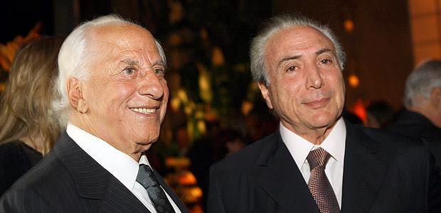 Michel Temer na festa de 50 anos de casado do advogado José Yunes com Célia Yunes