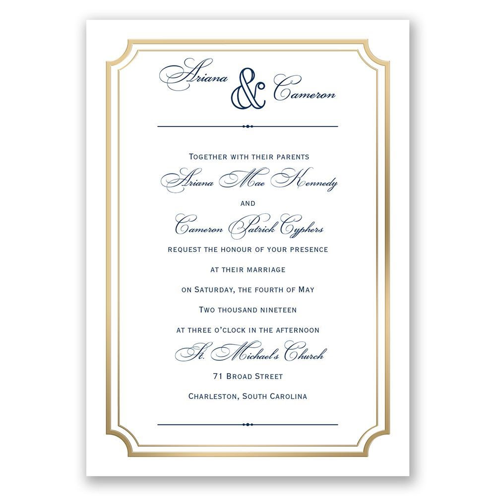 Wedding Invitation Frame Marina Gallery Fine Art