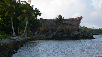 Island of Yap, Micronesia. Mens House. Traditional building
