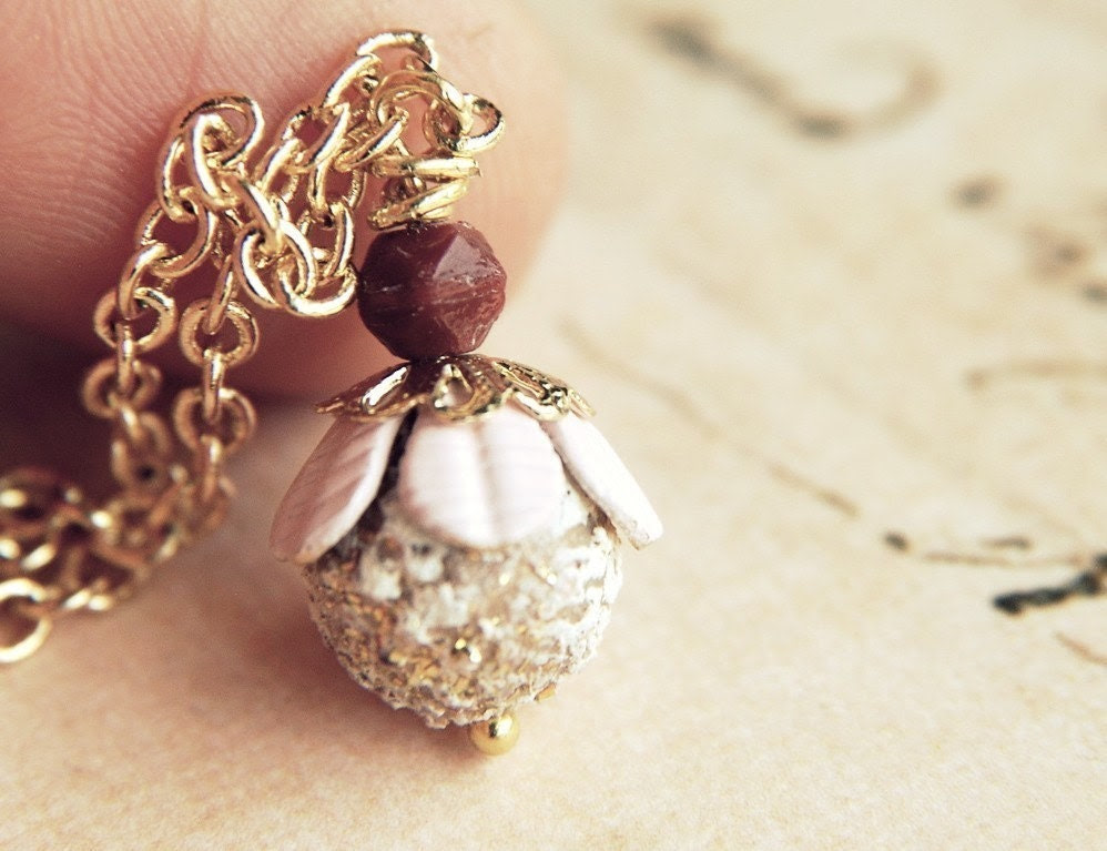 Little May. A whimsical and sweet tiny flower bloom necklace. Fairytale and vintage inspired. - GypsyAffairs