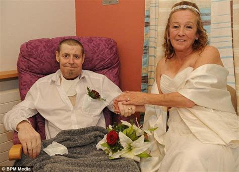 Terminally ill father writes down his vows after throat
