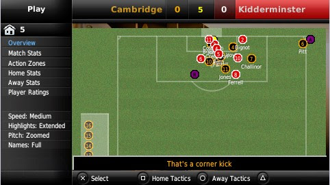 Screenshot of Football Manager 2009 Handheld (PSP)
