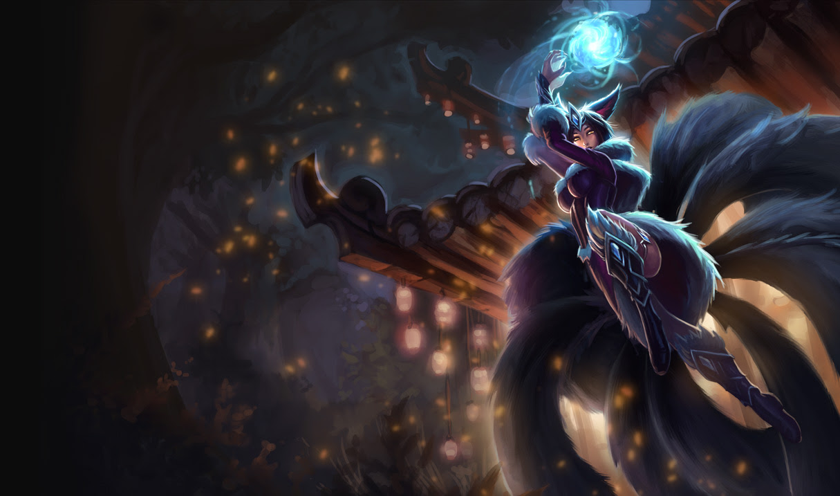 Midnight Ahri Skin League Of Legends Wallpapers