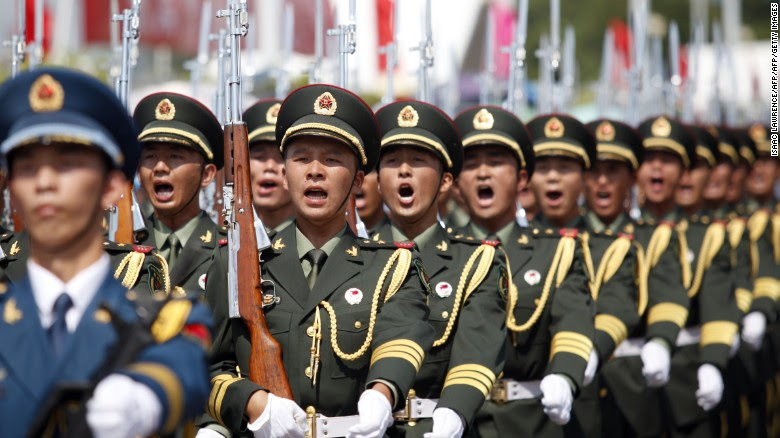 China's Peoples' Liberation Army in Hong Kong on July 1, 2015.