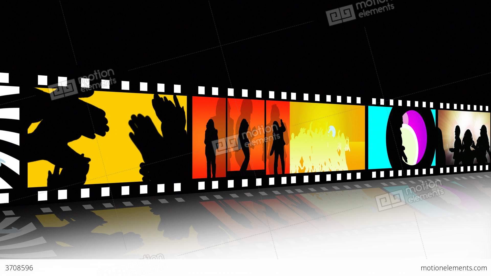 Entertainment Movie Film Strip Stock Animation  3708596