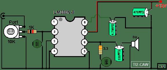 amplificador de sonido 10W