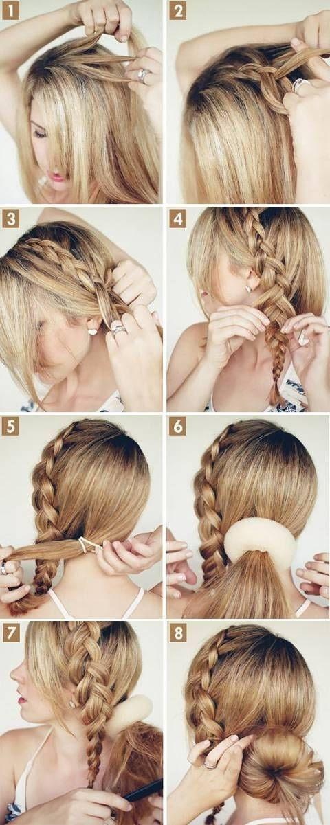 Braid Into Bun Hairstyles Easy Braid Haristyles