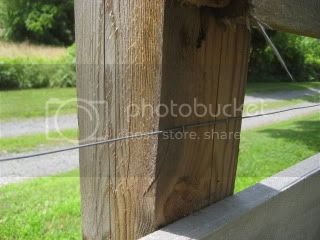 Wire on Post