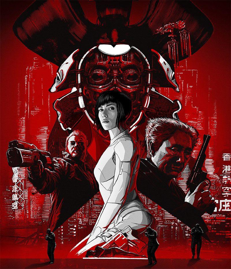 Scarlett Johansson vira personagem de mangá em novo pôster de Vigilantes do Amanhã