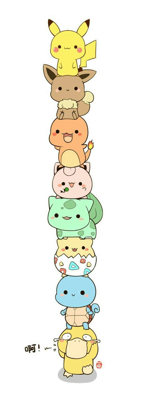 pikachu eevee jigglypuff bulbasaur togepi squirtle
