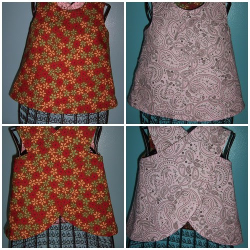 Reversible Pinafore - Sizes 12 months to 4T