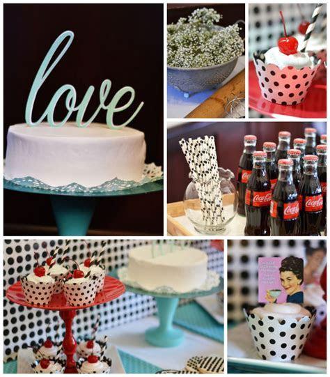 Kara's Party Ideas 1950's Housewife Retro Themed Bridal