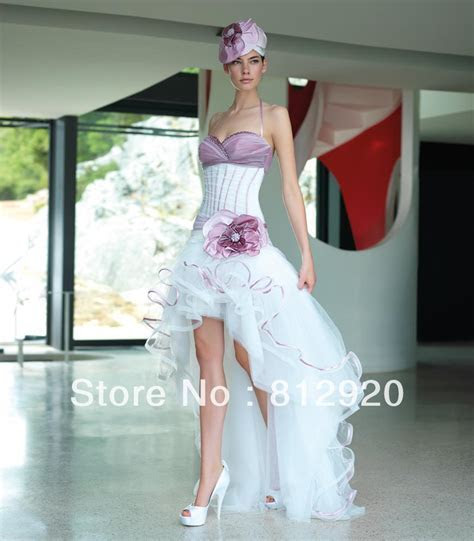Halter Taffeta and Tulle Short Front Long Back Corset High