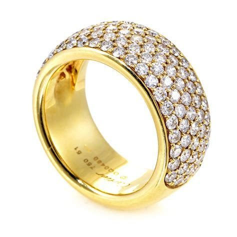 Jewelry: Cartier Women's 18K Yellow Gold Diamond Pave Band