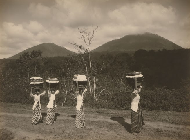S. Satake Japanese, working Indonesia 1902 - c. 1937 'Women on road to Buleleng Bali' c. 1928