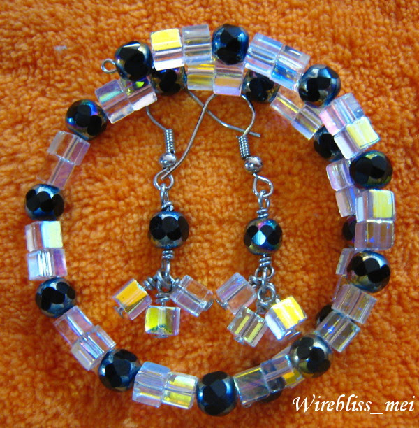 Memory Wire Bracelets with various beads