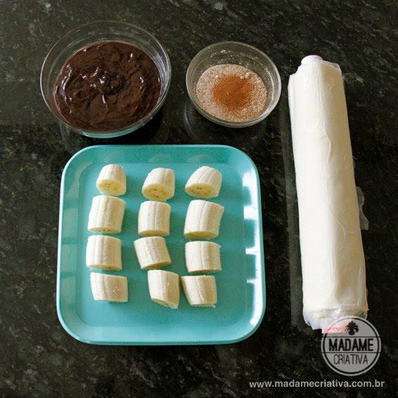 Folhado Banana com Chocolate ou Nutella - Dicas de Como fazer - Passo a Passo - photo tutorial  and tips - Easy Recipe - DIY - Madame Criativa www.madamecriativa.com.br