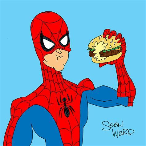 Superheroes Eating Burgers on Behance