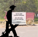Cowhand Silhouette Yard Art Woodworking Pattern - fee plans from WoodworkersWorkshop® Online Store - fence,leaning,resting,cowboys,ranchers,cowhands,cattleman,yard art,painting wood crafts,drawings,plywood,plywoodworking plans,woodworkers projects,workshop blueprints