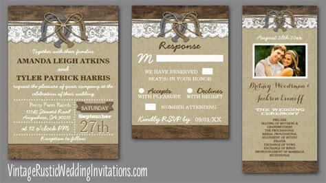 Horseshoe Wedding Invitations   Vintage Rustic Wedding