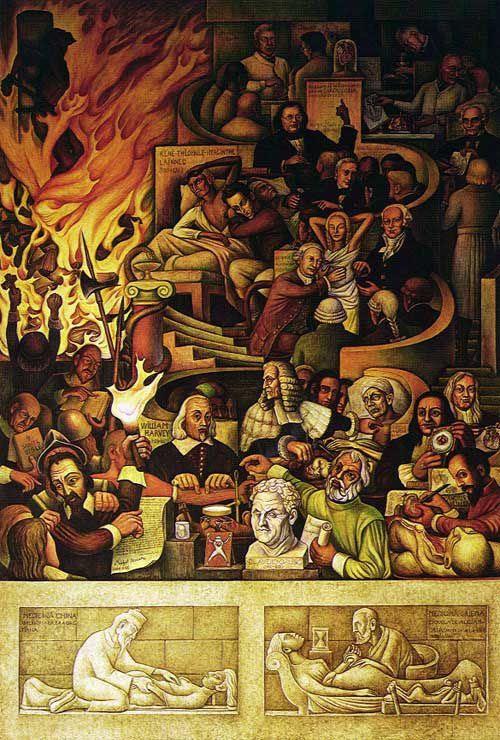 Mural De Diego Rivera En El Instituto Nacional De Cardiologia Cad