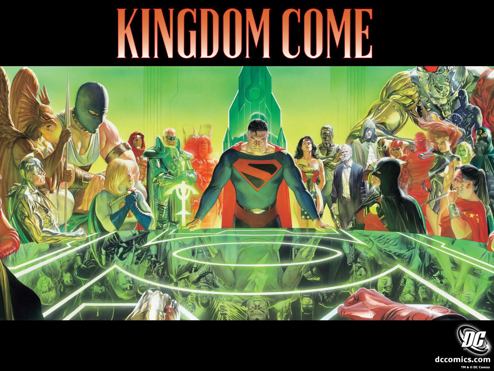 Kingdom Come Wallpaper Cover Dc Comics Alex Ross Mark Waid Trinity