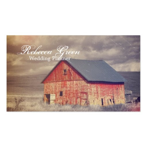 rustic western red barnhouse country fashion business cards from ...