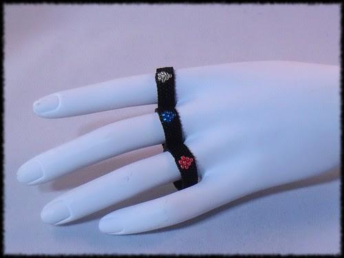 "Variations on my ""diamond"" ring pattern"