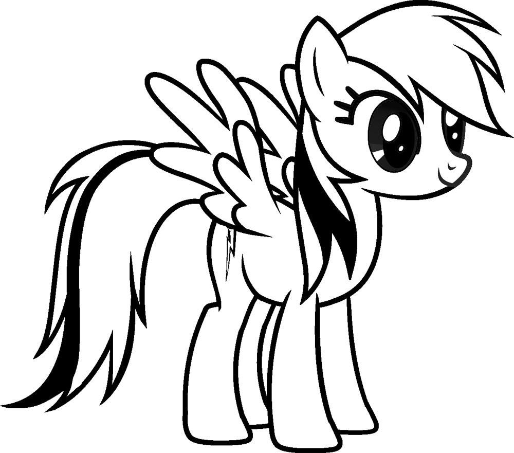 Dibujos Para Colorear My Little Pony Para Desarrollar La