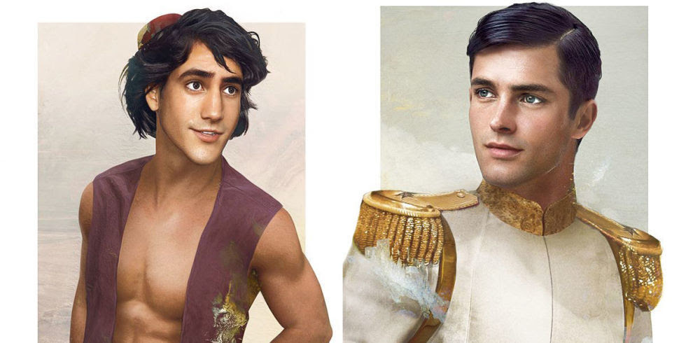 Jirka Vaatainen draws the Disney Princes in real life