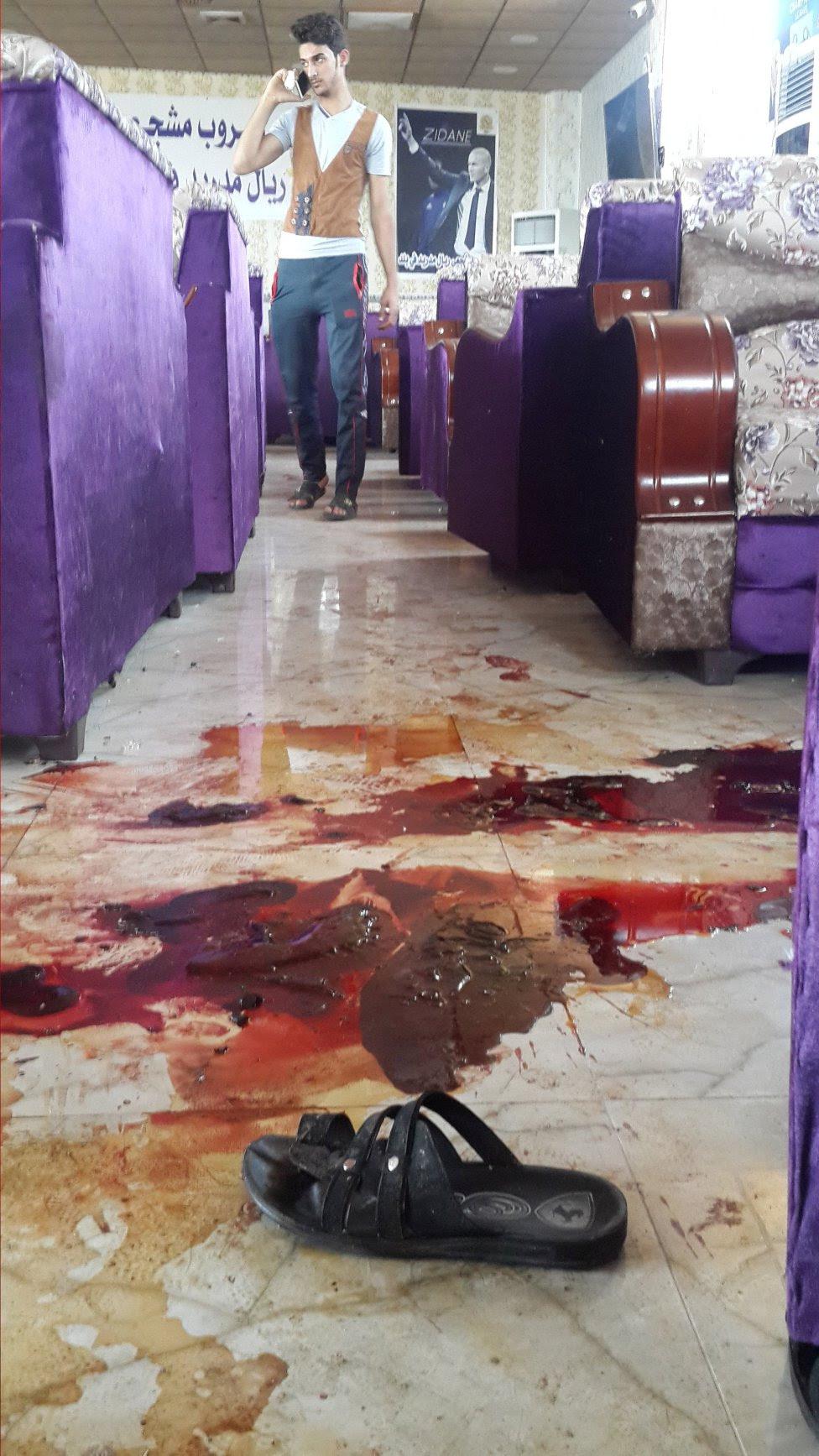 Así quedó la sede de la peña madridista atacada en Irak