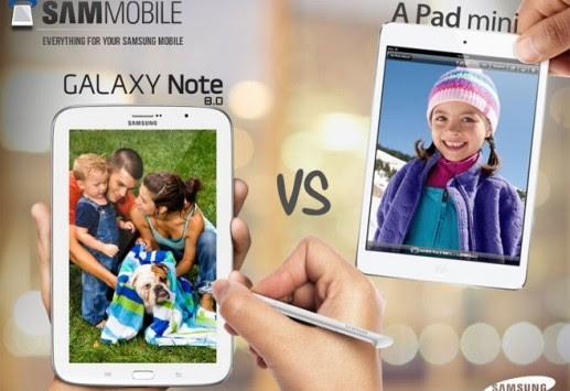 Samsung: 5 motivi per preferire il Galaxy Note 8.0 all'iPad Mini