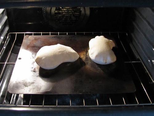 We like to bake pita...