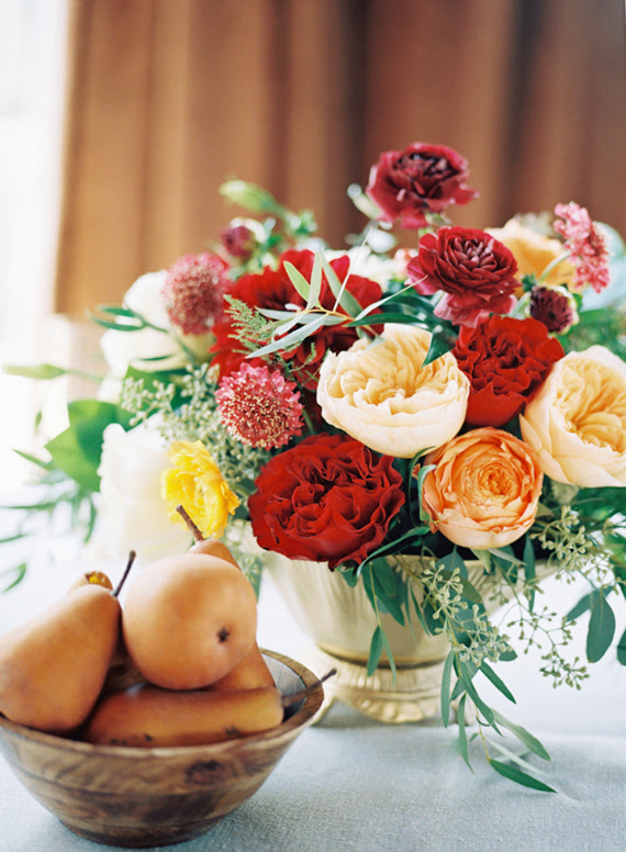 Warm Red Gold Fall Wedding Ideas Gold Decor 100 Layer Cake