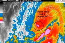 Una imagen satelital del huracán Patricia. Foto: Conagua