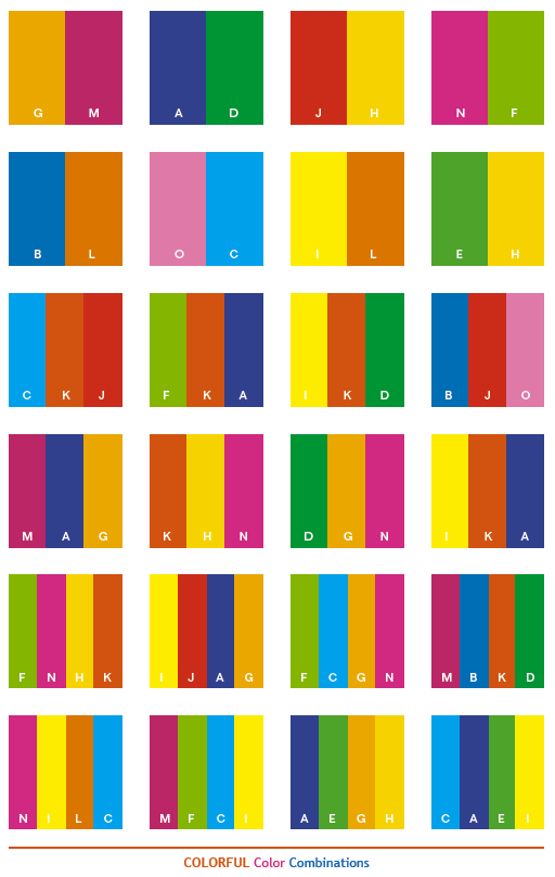 colorful color combinations