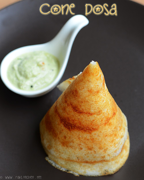 Cone shaped dosa