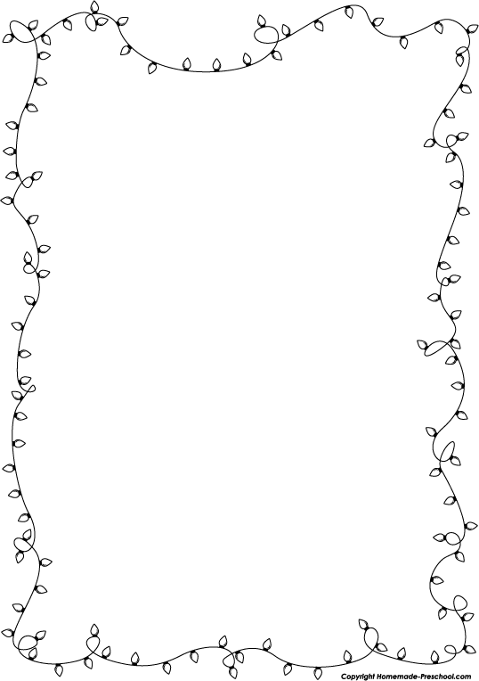 Preschool borders black and white clipart 6 - WikiClipArt