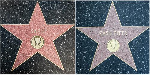 Zasu Pitts's and Sabu's Walk of Fame Stars