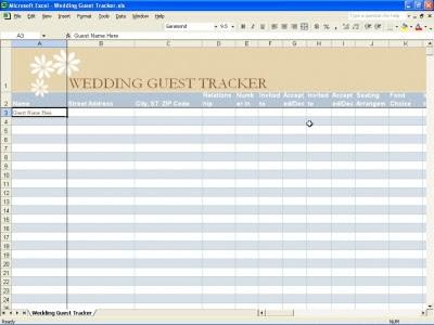 Wedding Idea S Wedding Guest Tracker Excel