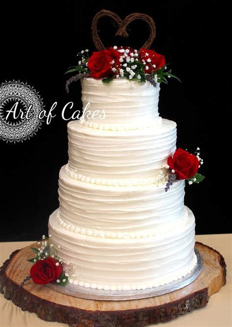 Romantic wedding cake; Rustic wedding cake; 4 tier wedding