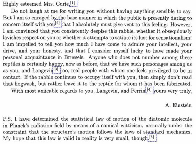 In 1911, Albert Einstein Told Marie Curie To Ignore The Trolls