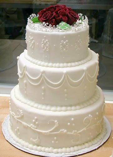 wedding cake class - fondant