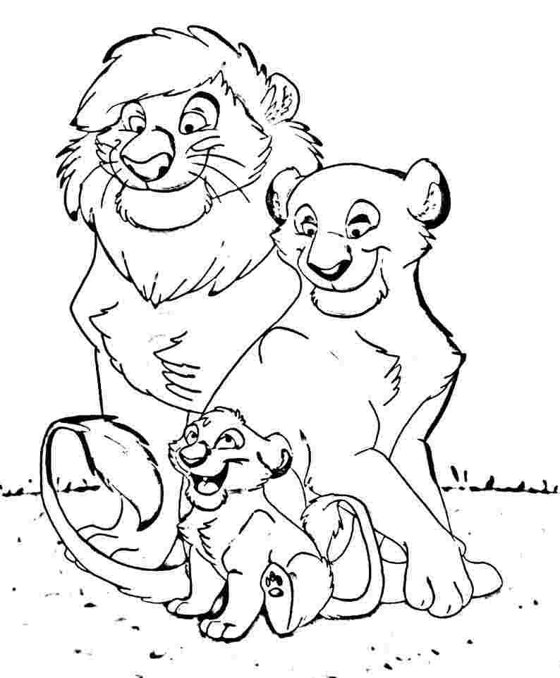 Animal Family Coloring Page - Coloring Home