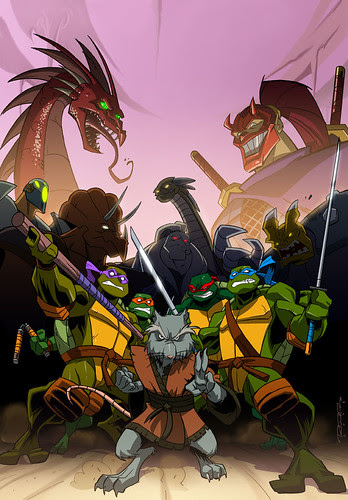 Teenage Mutant Ninja Turtles {2k3} Season 2 part ii DVD - medium - ..art by Khary Randolph & Emilio Lopez [[ Courtesy K R  ]]