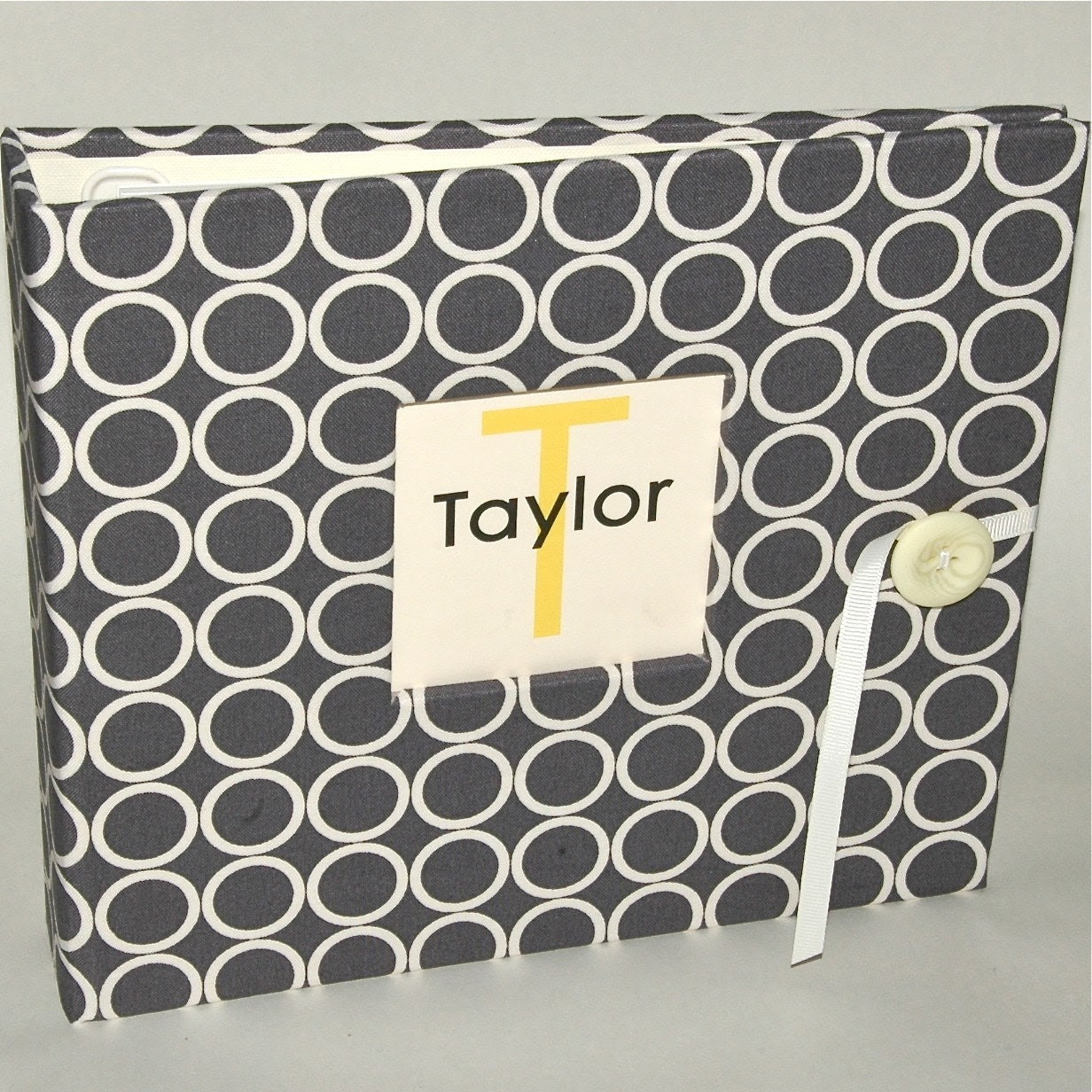 Modern Baby Memory Book. Ruby Love Modern Baby Book. Gray Mod Circles Album