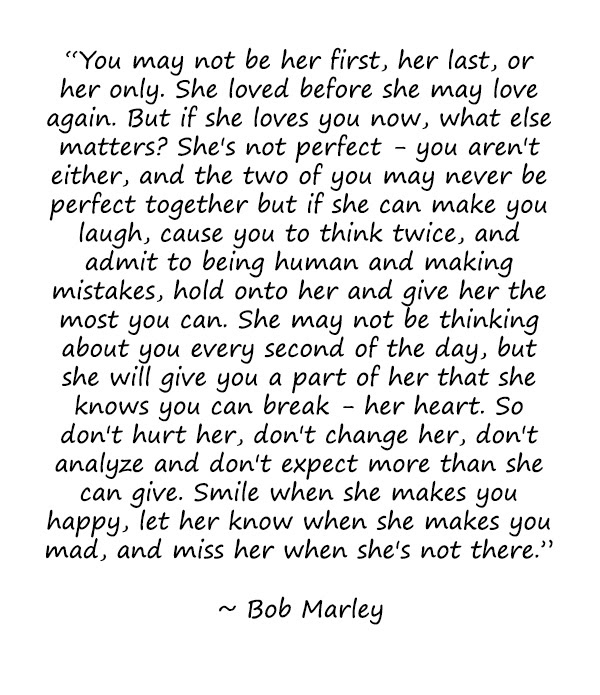 Love Quotes For Her Bob Marley Quotes