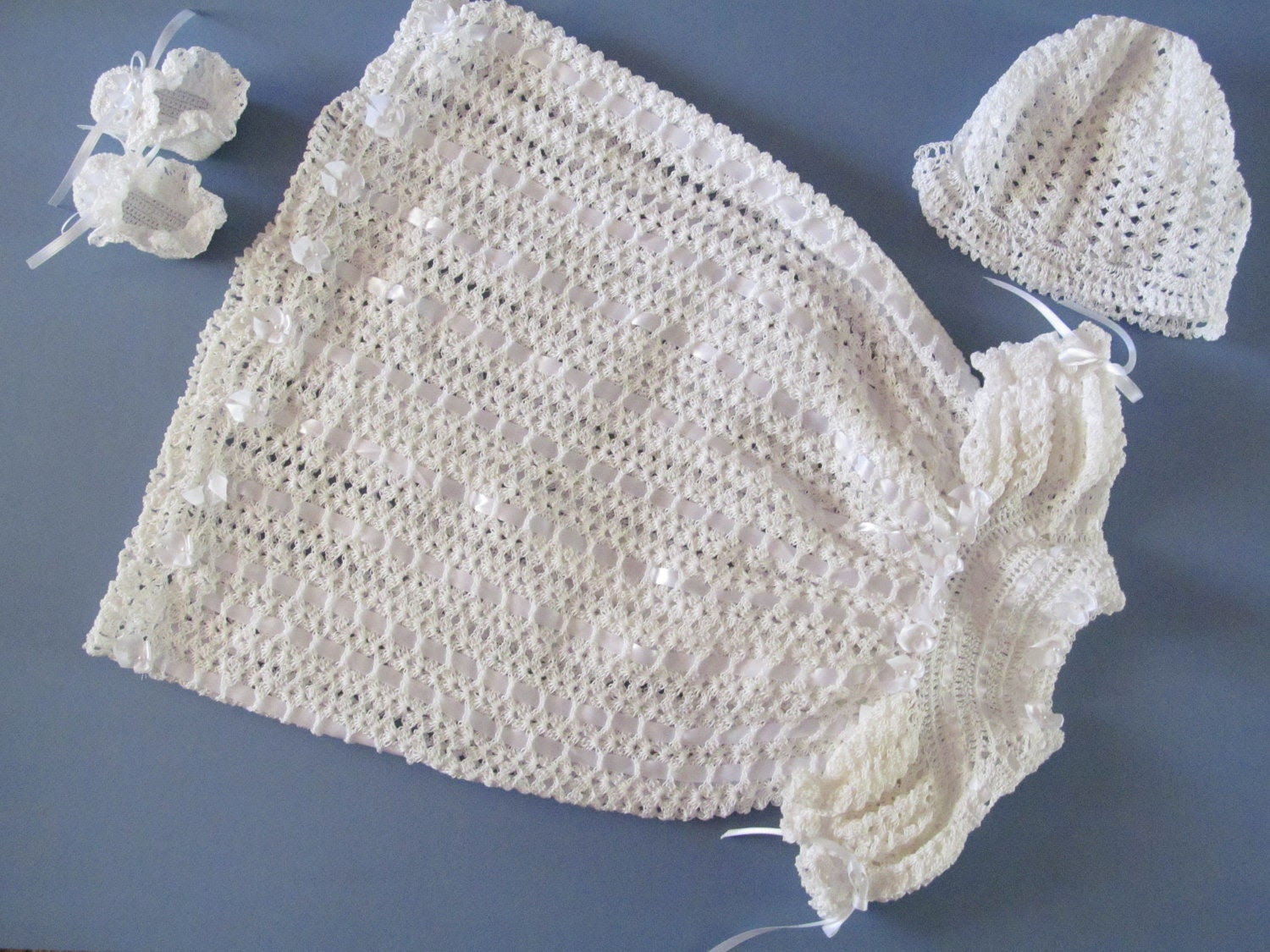 Crocheted Baby Christening Outfit