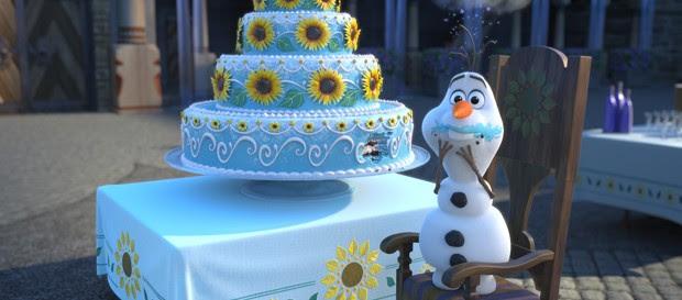 Olaf em cena do novo curta de 'Frozen' (Foto: Divulgação/Disney)