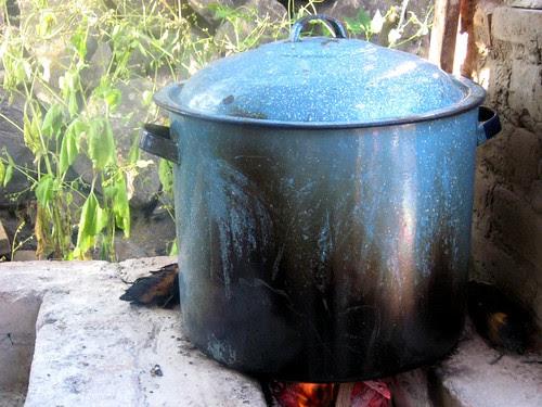 Big Pot on Grill